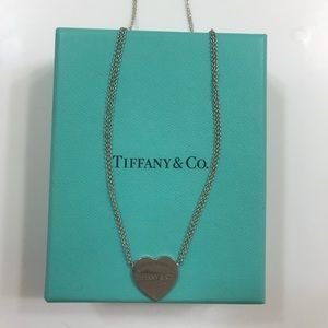 Tiffany and Co. double chain heart necklace